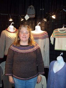 A Winter Woods Sweater from our new book by Melodie