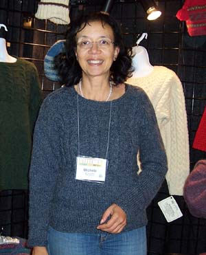Michele from CT in a Cableweave Pullover