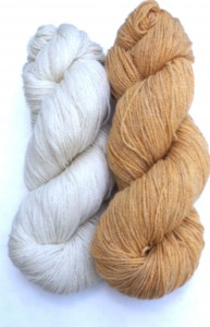Kate chose Sock Art Forest in  Sweet Corn and Undyed Natural White