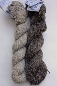 Lauren wanted to play with two tones of neutral grey.  She chose Slyvan Spirit in Sterling and Moonshadow.