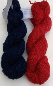 Tracey chose Cotton Comfort in classic Navy and Red.  She is interested in playing with the stripe width.