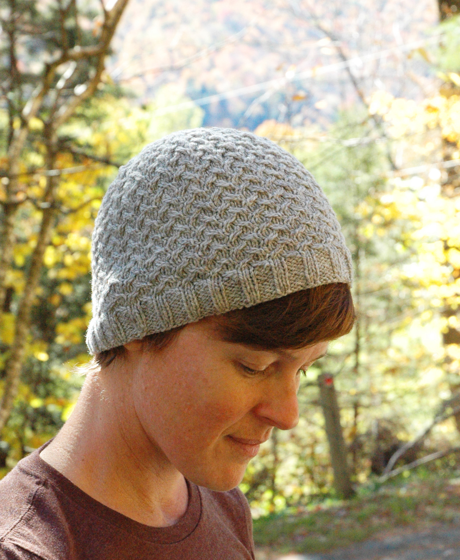The pattern calls for a bit less than a single skein of DK weight yarn for  the smaller beanie version and would look great with any of our DK yarns  such as ... bcdd2d0e8a9