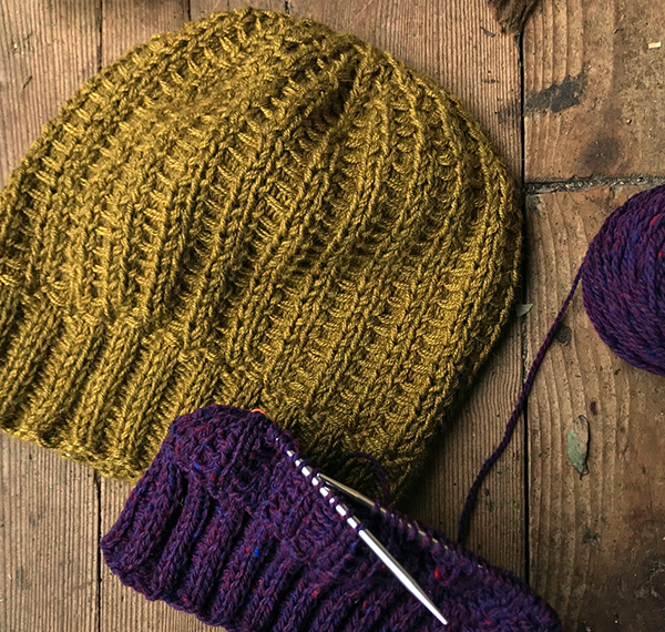 a55b7c0df5a Elizabeth Doherty s Crosscheck hat pattern is as much fun to knit as it  will be to wear. This unisex pattern provides instruction for 6 different  sizes ...