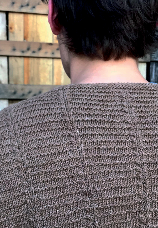 0c1a3e7427 Cap s clever design creates a stunning pullover that looks far more  complicated than it really is