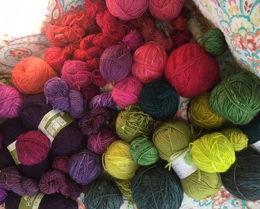 Crochet Sapphire Hand Spun Single Ply Mohair Wool Blend Thick N/' Thin Yarn Knit